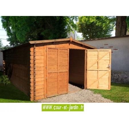 garage en bois voiture garages bois en kit abris madriers a prix pas cher. Black Bedroom Furniture Sets. Home Design Ideas