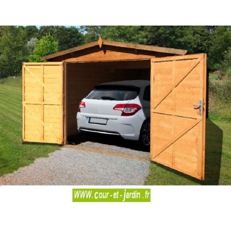 garage en kit pour voiture garage bois en kit demontable pas cher. Black Bedroom Furniture Sets. Home Design Ideas