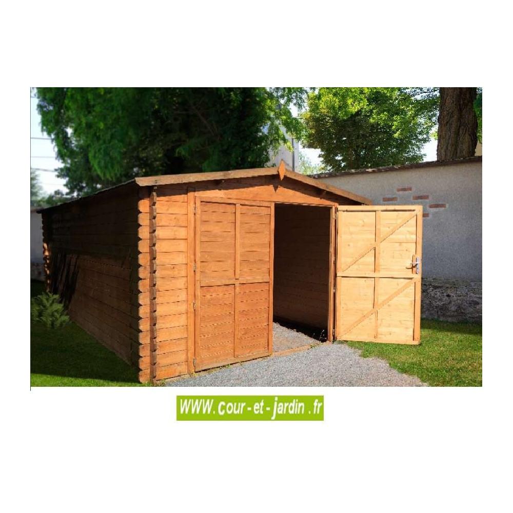 garage en kit pour voiture garage bois en kit. Black Bedroom Furniture Sets. Home Design Ideas