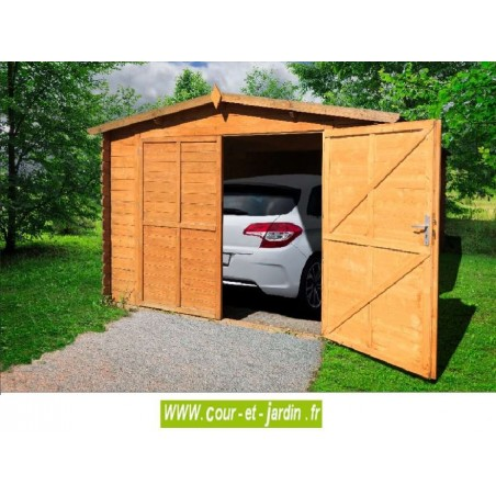 garage en kit pour voiture garage bois en kit. Black Bedroom Furniture Sets. Home Design Ideas