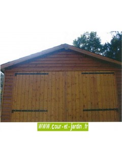 """Garage bois non traité de la """"série 3003"""" des abris en bois de CIHB""""  -  abri de voiture"""