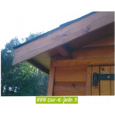 Garage voiture, en bois, de 15m², de la série 2000 des garages en bois de cihb  -  garage en planches