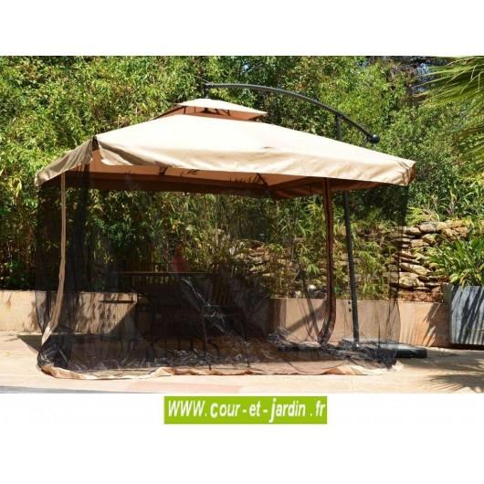 parasol d port carr d 39 ombrage de jardin droit parasols d port s. Black Bedroom Furniture Sets. Home Design Ideas