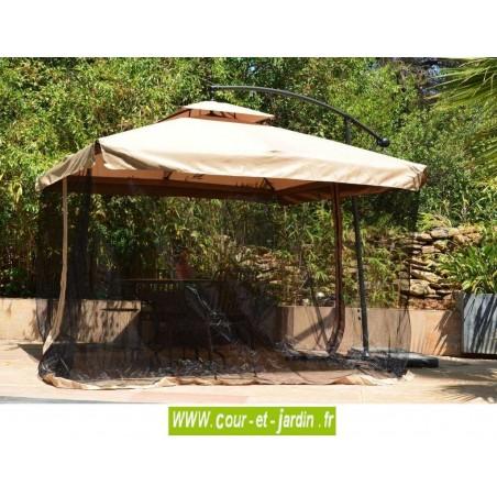 Parasol déporté EXO avec moustiquaire amovible. Parasol Exo