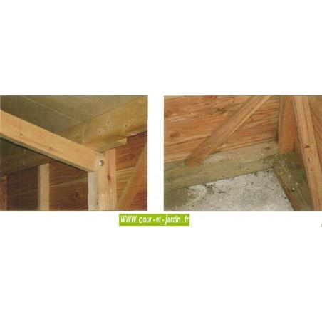 Garage en bois en kit, de 15m², de la série 2000 des garages bois de cihb - garage demontable
