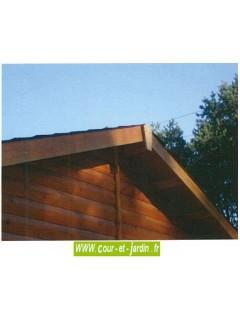 Garage pour voiture, de 18m², Série 2000 des garages en bois, de Cihb  - hauteur 2m40  - abri voiture fermé
