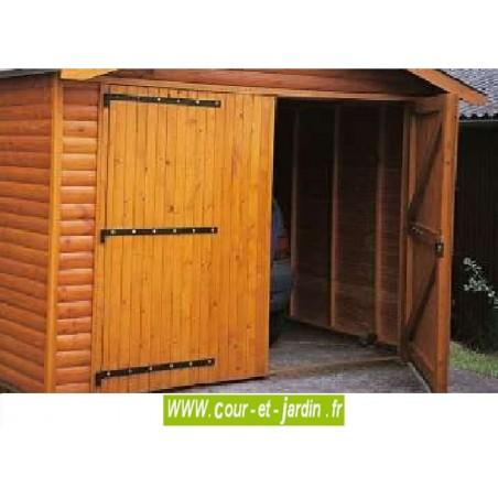 Garage ossature bois, de 18m², Série 2000 des garages bois en kit, de Cihb  - hauteur 2m40  - garage abri voiture