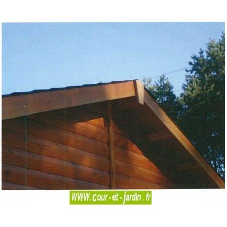 Garage en kit en bois non traité, livré non peint, de 15m2 -  série 3003 - garage a monter soi même