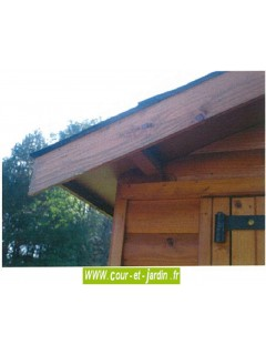 Garage pour voiture, livré non peint, de 15m2 -  série 3003 des garages bois