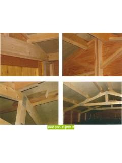 Garage voiture en bois, livré non peint, de 15m2 -  série 3003 -