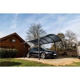 Carport aluminium, toit polycarbonate car3048alrp, abri voiture