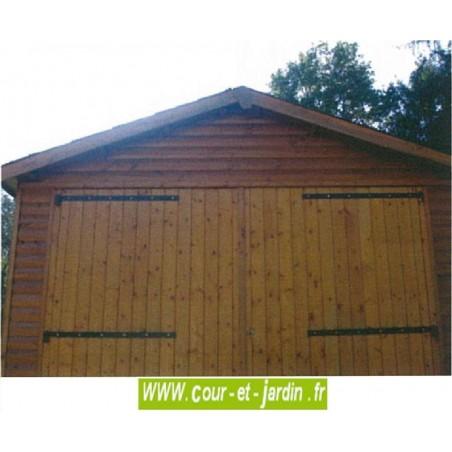 Garage bois de 18m²  (série 3003 des garages bois en kit)  -  garages CIHB