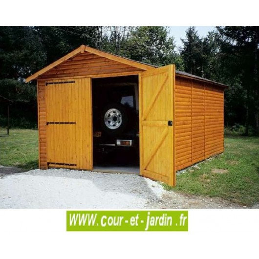 garages en bois pour voiture garage bois en kit pas cher. Black Bedroom Furniture Sets. Home Design Ideas