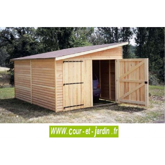 garage en bois voiture garages bois en kit pas cher. Black Bedroom Furniture Sets. Home Design Ideas