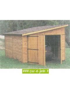 Garage voiture (série 2001 des garages bois en kit de cihb) - garage a monter