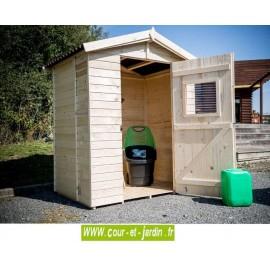 Petit Abri de jardin en bois Eden ED 1612.01 en situation - abri à vélo - Petit abri jardin