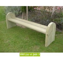 Banc jardin bois : Elite - Banc bois design - Banc en bois sans dossier.