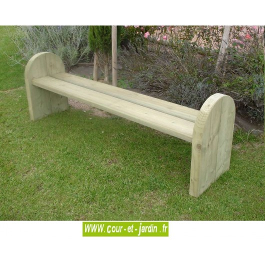 banc jardin bois design sans dossier banc exterieur. Black Bedroom Furniture Sets. Home Design Ideas