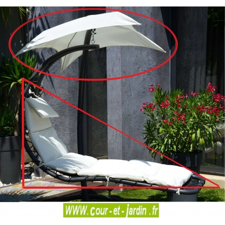 coussin toile ombrelle de hamac celest blanc. Black Bedroom Furniture Sets. Home Design Ideas