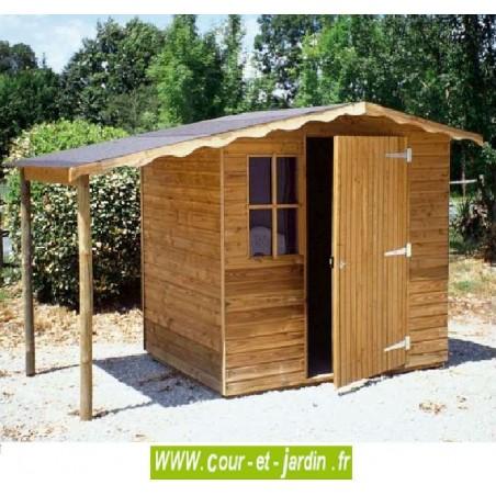 Abri de jardin europe bois trait 15mm de 5m2 250x200 for Abri bois traite