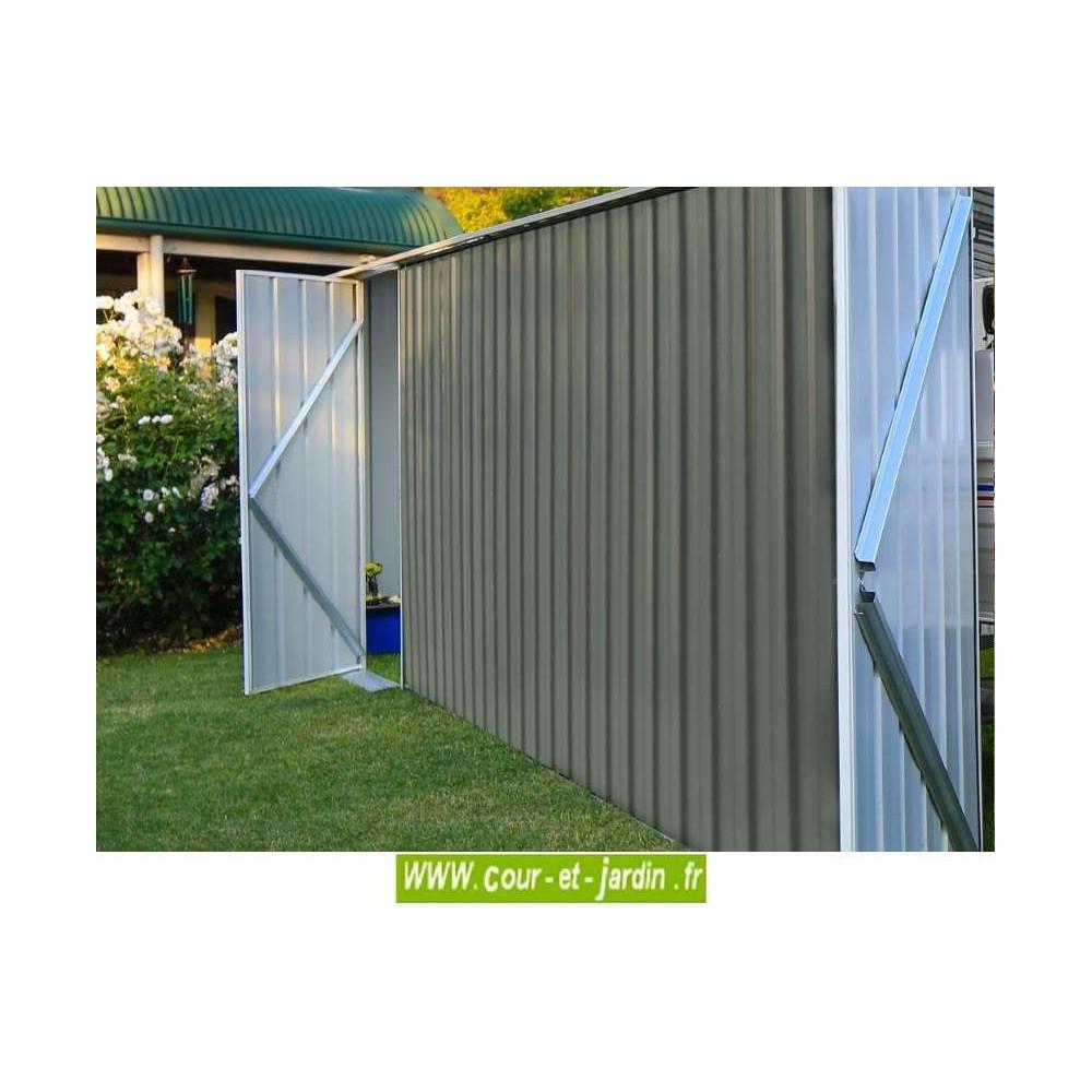 Garage metallique easyshed 18m abri voiture vert brume - Garage metallique pour voiture ...