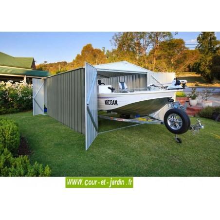 garage metallique easyshed 18m abri voiture vert brume. Black Bedroom Furniture Sets. Home Design Ideas