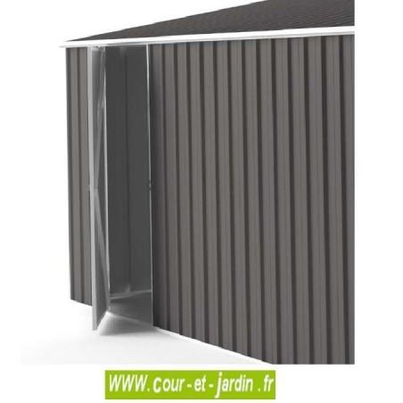 garage metallique easyshed 18m abri voiture gris ardoise. Black Bedroom Furniture Sets. Home Design Ideas