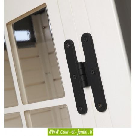 Abri de jardin PVC Evo 100.1 Reverso.  Abri jardin resine