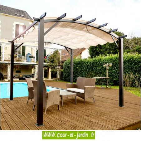 tonnelle aluminium terrasse en kit pergola aluminium. Black Bedroom Furniture Sets. Home Design Ideas