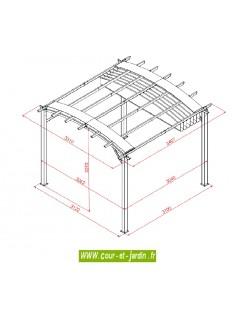 tonnelle aluminium terrasse en kit pergola aluminium prix pas cher. Black Bedroom Furniture Sets. Home Design Ideas