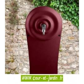 Dosseret grand modèle seul pour les Fontaines en fonte Quino - coloris rouge 2200. Fontaine de jardin murale