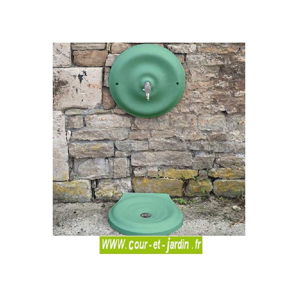 Fontaine murale Quino à mascaron et vasque, fontaine fonte