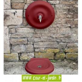 """Mascaron et vasque de fontaine d'extérieur """"Quino"""" (petit modèle) coloris rouge 2200"""