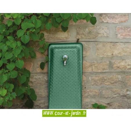 Dosseret de Fontaine murale en fonte, coloris vert2300. Fontaine terrasse Venga