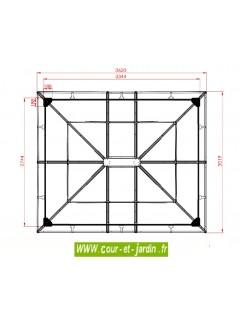 Dimensions de la Tonnelle pergola GL3630AL -  Tonnelle alu