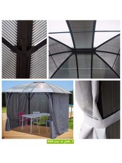 Détails de la tonnelle pour jardin GL3630AL  -  ou  - tonnelle de terrasse