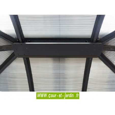 vue intérieure du toit de la Gloriette alu GL3630AL - Gazebo aluminium