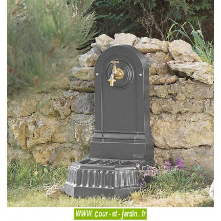 Fontaine exterieure Citadine, fonte, ht70cm, coloris gris 4111 - Fontaine pour jardin