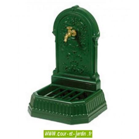 Fontaine fonte, Florale, coloris vert anglais - point d'eau