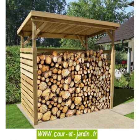 Abri pour bois, en situation - abri bûches