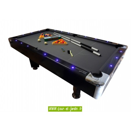 Billard Passadena led avec éclairage billard à led