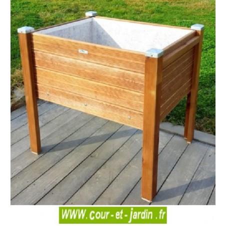 carr potager sur pieds bois bac sur lev de jardin table de culture. Black Bedroom Furniture Sets. Home Design Ideas