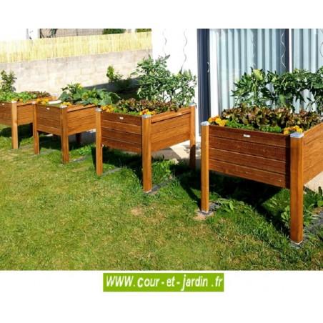 bac fleurs bois sur pieds bacs plantes potager jardini re. Black Bedroom Furniture Sets. Home Design Ideas