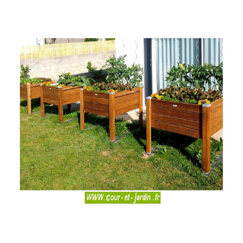Jardinière En Bois En Hauteur bacs jardinières bois jardinière en bois sur pieds. bac à