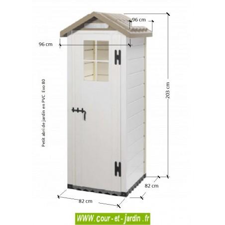 Dimensions des abris jardin PVC : Evo 80 - de la série des abris de jardin PVC
