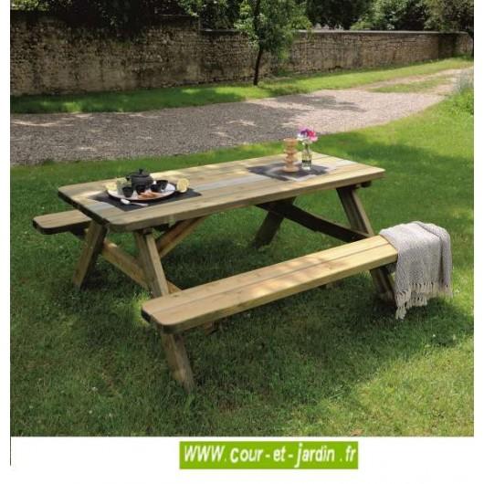 Table Pique-nique bois, jardin, tables, pique nique, table picnic bois
