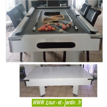 Table de billard convertible de Cortes games avec ou sans plateau billard.