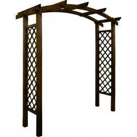 Arche de jardin en bois Akebia. Support pour plantes grimpantes. Arche pour rosier grimpant.