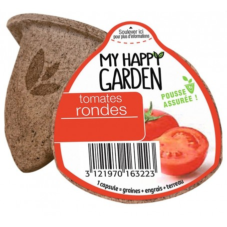 Capsule Prêt à planter : TOMATE RONDE