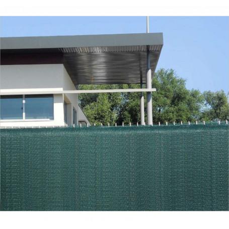 Filet brise vue tres occultant de hauteur 1m50. Ce rouleau Brise vue 50m ou Brise vue vert est un pare vue pvc.